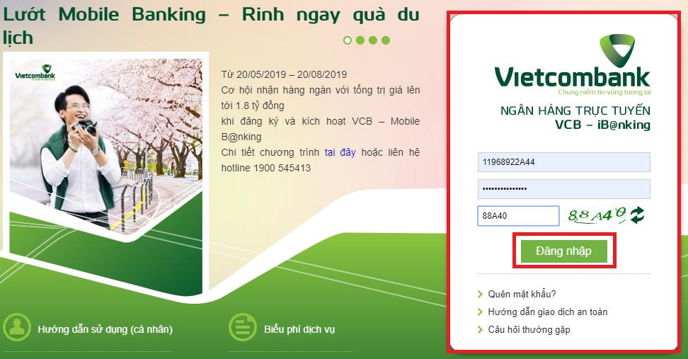 Ứng dụng Mobile Banking của Vietcombank