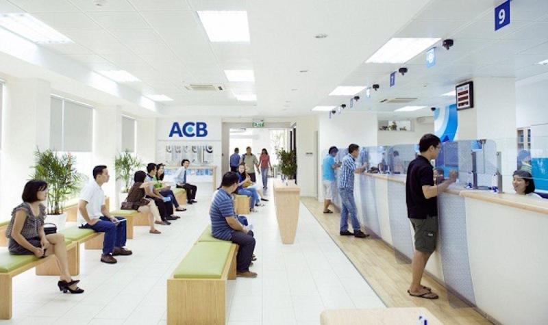 Phòng giao dịch của ngân hàng ACB