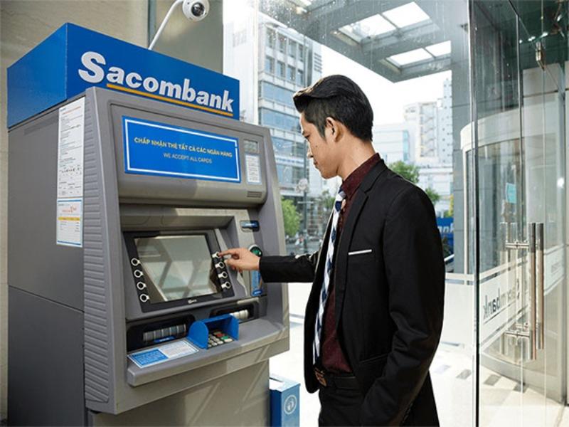 Tra cứu tài khoản Sacombank tại cây ATM