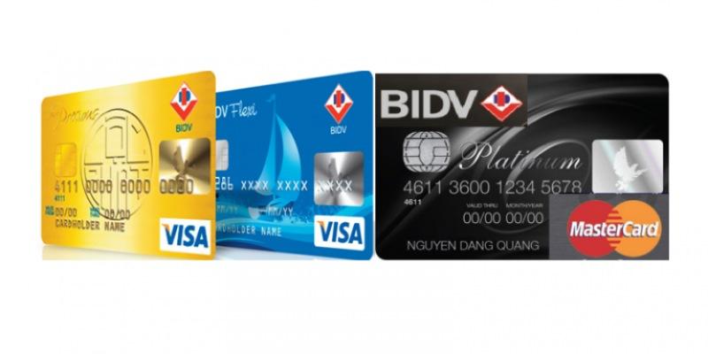 Một số loại thẻ của BIDV