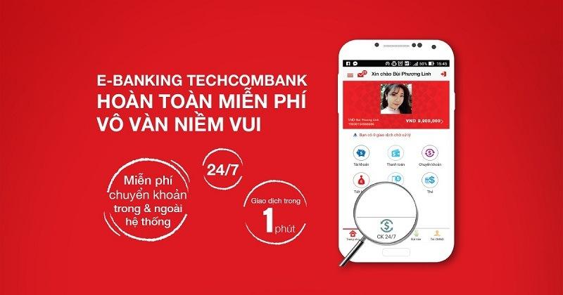 E-Banking Techcombank hoàn toàn miễn phí vô vàn niềm tin