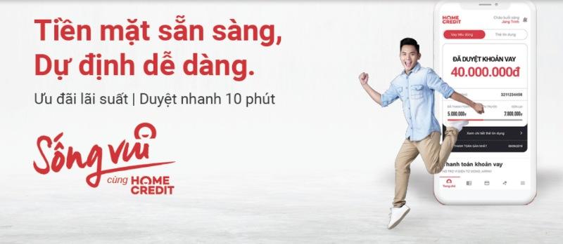 Truy cập vào trang web của Home Credit theo đường link homecredit.vn