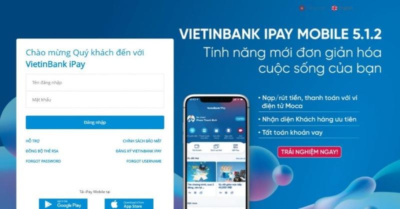 Lấy lại tên đăng nhập VietinBank iPay đơn giản và nhanh chóng