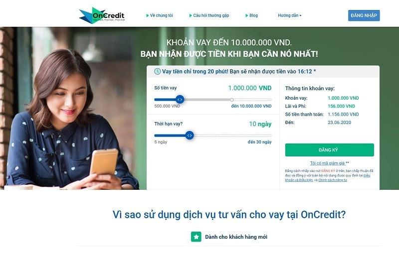 OnCredit đem lại nhiều khoản vay tín chấp dài hạn hoặc ngắn hạn