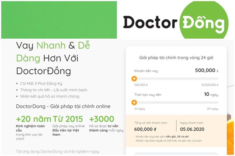 Vay tiền nhanh hơn nhờ đăng ký hồ sơ online tại Doctor Đồng