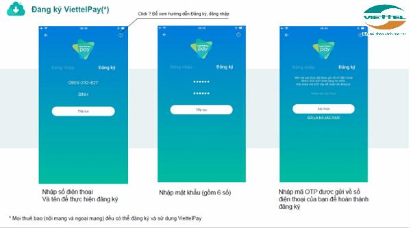 Cách đăng ký app ViettelPay