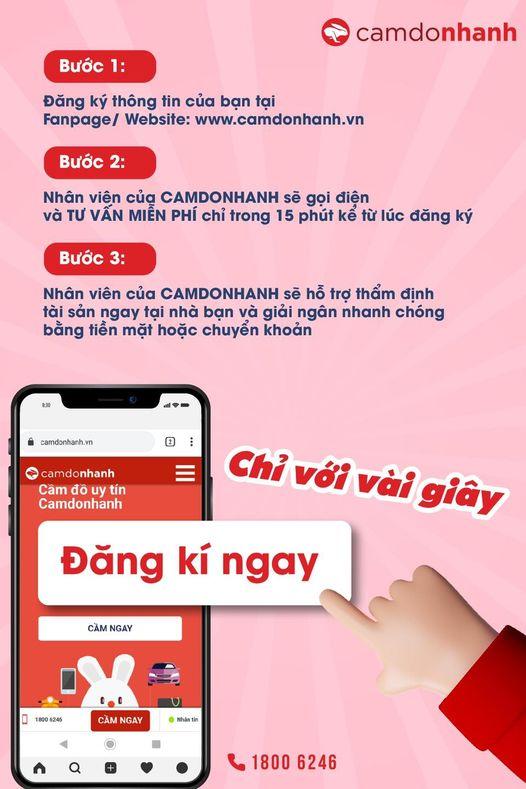 Các bước đăng ký Camdonhanh