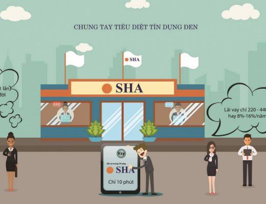 App vay tiền SHA trên điện thoại