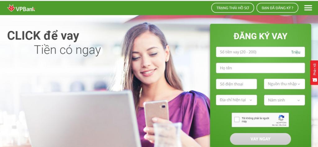 Các bước đăng ký vay online VPBank