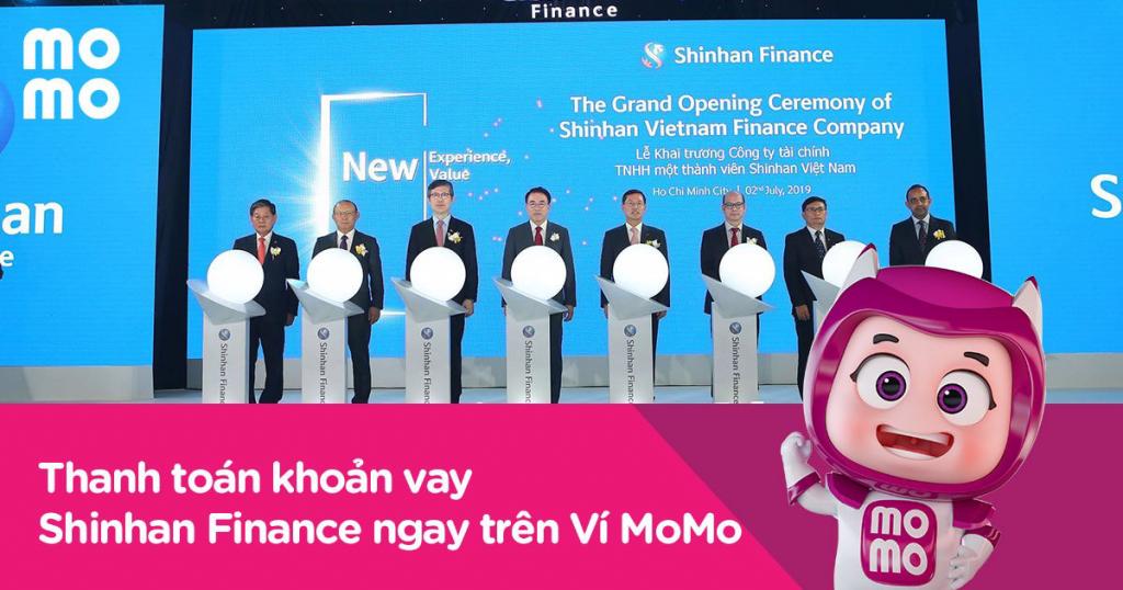 Thanh toán khoản vay Shinhan Finance qua ví momo dễ dàng