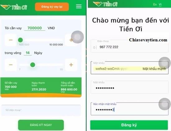 Hướng dẫn đăng ký vay online nhanh tại Tiền ơi